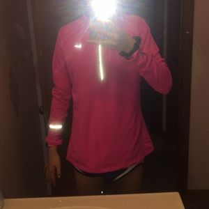 Pink nike dry fit long sleeve.